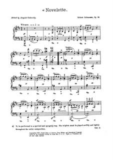 Bunte Blätter, Op.99: Nr.9 Novelette by Robert Schumann