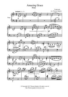 Erstaunliche Gnade: For concert harp by folklore