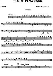 Vollständiger Oper: Fagottstimme by Arthur Sullivan