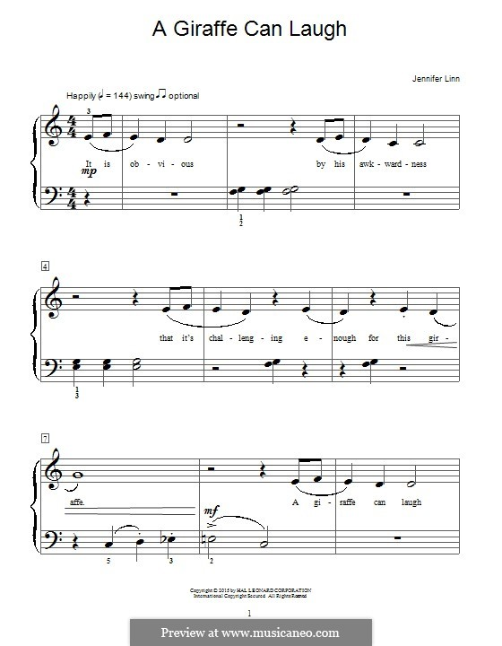 A Giraffe Can Laugh: Für Klavier by Jennifer Linn