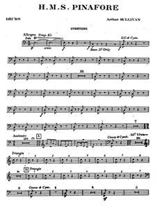 Vollständiger Oper: Schlagzeugstimme by Arthur Sullivan