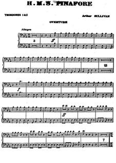 Vollständiger Oper: Posaunestimmen by Arthur Sullivan