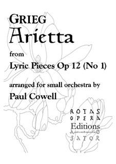 Lyrische Stücke, Op.12: No.1 Arietta, for chamber ensemble by Edvard Grieg