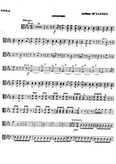 Vollständiger Oper: Bratschenstimme by Arthur Sullivan