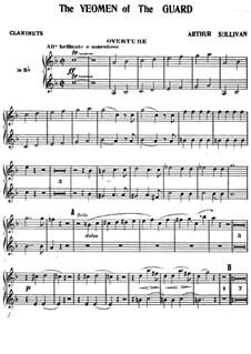 The Yeomen of the Guard: Klarinettenstimme by Arthur Sullivan