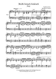 Beidh Aonach Amarach: For concert harp by folklore