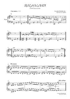 Rocsolana, Op.40 No.3: Rocsolana by Alexander Khodakovsky