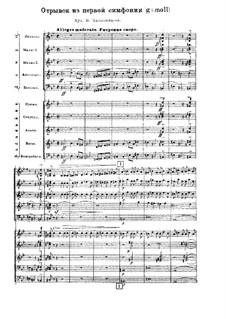 Synfonie Nr.1 in g-Moll: Fragment by Wassili Kalinnikow