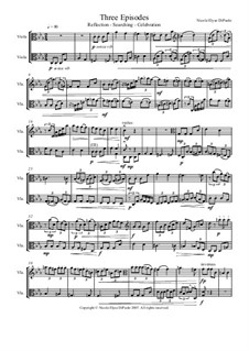 Three Episodes for Viola Duo: Three Episodes for Viola Duo by Nicole DiPaolo