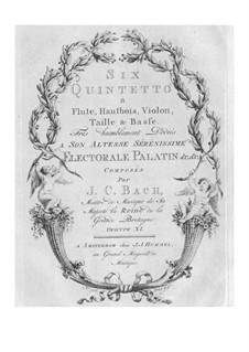 Sechs Quintette für Bläser und Streicher, Op.11 W B70-75: Stimmen by Johann Christian Bach