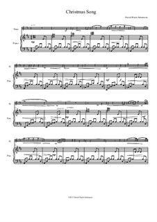 Christmas Song: Für Flöte und Piano by David W Solomons