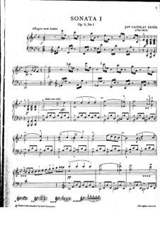 Drei Sonaten für Klavier, Op.9: Nr.1 in B-Dur, Craw 57 by Jan Ladislav Dussek