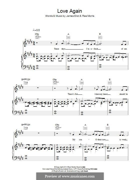 Love Again: Für Stimme und Klavier (oder Gitarre) by James Eliot, Rae Morris