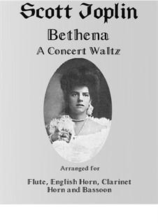 Bethena: For wind quintet (english horn) by Scott Joplin