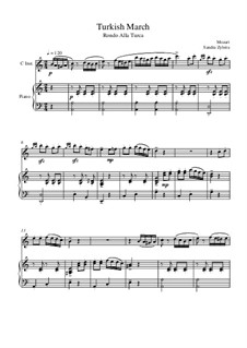 Türkisches Rondo: Score for two performers (in C) by Wolfgang Amadeus Mozart