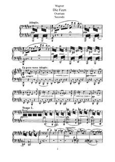 Die Feen, WWV 32: Klavierauszug mit Singstimmen by Richard Wagner