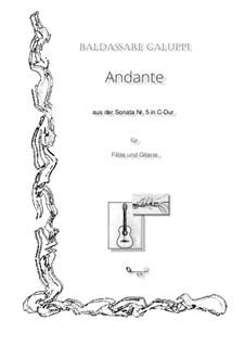 Sonate für Cembalo in C-Dur, Illy No.27: Für Flöte und Gitarre by Baldassare Galuppi