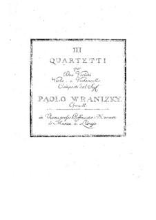 Drei Streichquartette, Op.2: Drei Streichquartette by Paul Wranitzky