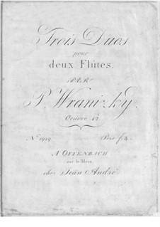 Drei Duos für zwei Flöten, Op.42: Drei Duos für zwei Flöten by Paul Wranitzky