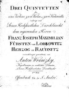 Drei Streichquintette, Op.8: Drei Streichquintette by Paul Wranitzky