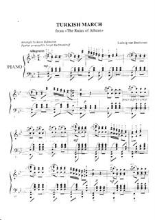 Türkischer Marsch: Für Klavier by Ludwig van Beethoven