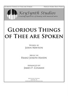 Glorious Things of Thee are Spoken: For two horns and piano by Joseph Haydn