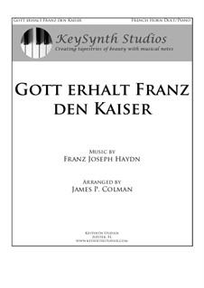 Österreische Nationalhymne, Hob.XXVIa/43: For horn and piano by Joseph Haydn