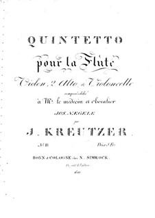 Quintett für Flöte und Streicher Nr.2 in C-Dur: Quintett für Flöte und Streicher Nr.2 in C-Dur by Joseph Kreutzer