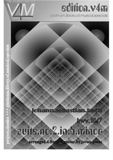 Orchestersuite Nr.2 in h-Moll, BWV 1067: Für Flöte und Gitarre by Johann Sebastian Bach