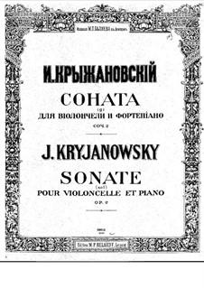 Sonate für Cello und Klavier in g-Moll, Op.2: Sonate für Cello und Klavier in g-Moll by Ivan Krischanowskij
