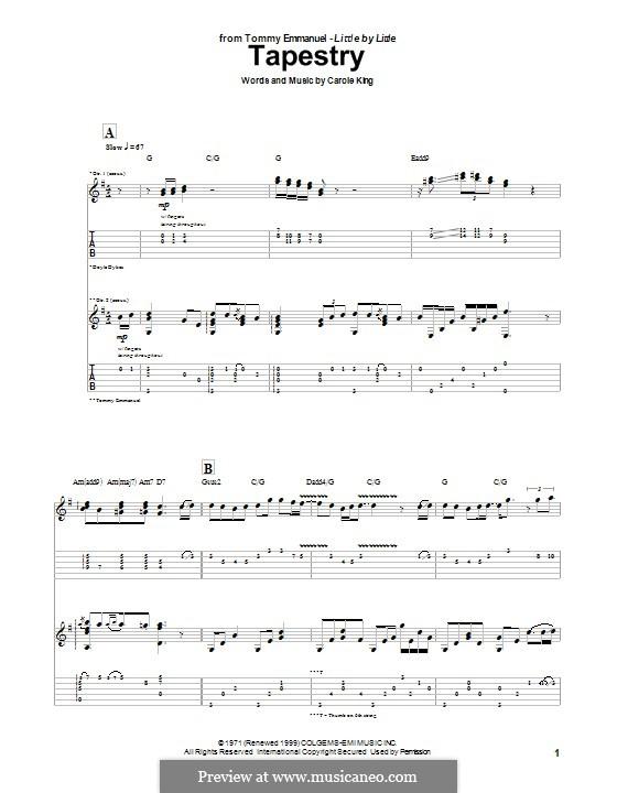 Tapestry: Für Gitarre mit Tabulatur by Carole King