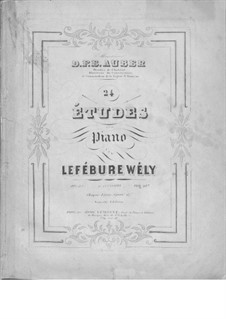 Vierundzwanzig Etüden, Op.23: Vierundzwanzig Etüden by Louis James Alfred Lefébure-Wely