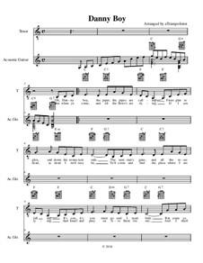 Danny Boy (Londonderry Air): Für Stimme und Gitarre by folklore