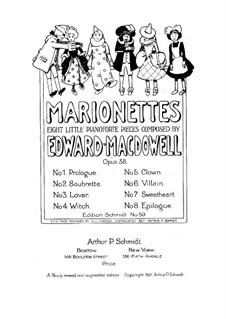 Marionettes. Eight Little Piano Pieces, Op.38: Für einen Interpreten by Edward MacDowell