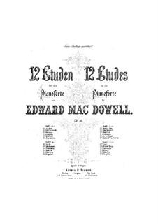 Zwölf Etüden, Op.39: Vollsammlung by Edward MacDowell