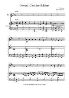 Onward, Christian Soldiers: Score for two performers (in E Flat) by Arthur Sullivan