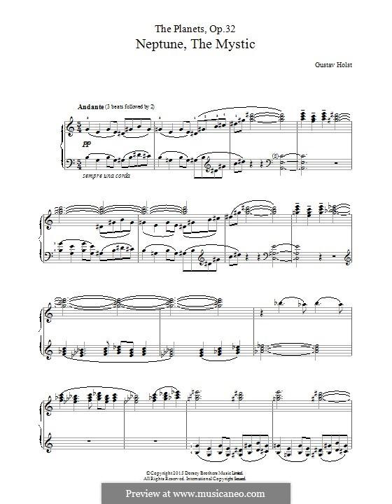 Neptune, the Mystic: Für Klavier by Gustav Holst