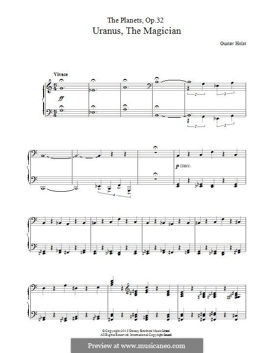Uranus, the Magician: Für Klavier by Gustav Holst