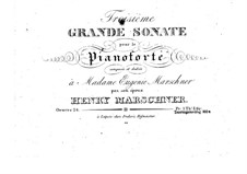 Sonate Nr.3 in g-Moll, Op.24: Sonate Nr.3 in g-Moll by Heinrich Marschner
