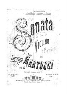 Sonate für Violine und Klavier, Op.22: Sonate für Violin und Klavier by Giuseppe Martucci