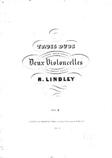 Drei Duos für zwei Cellos: Drei Duos für zwei Cellos by Robert Lindley