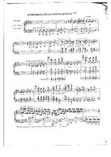 Divertimento über Kavatine 'I tuoi frequenti palpiti' von Pacini, S.419: Divertimento über Kavatine 'I tuoi frequenti palpiti' von Pacini by Franz Liszt