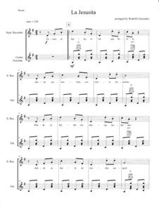 La Jesusita: For recorder and guitar by folklore