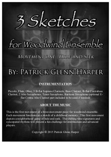 3 Sketches for Woodwind Ensemble: Movement 1 - Hide and Seek by Patrick Glenn Harper