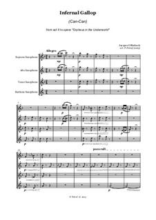 Cancan: For saxophone quartet by Jacques Offenbach
