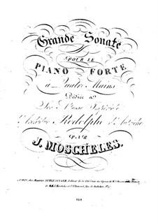 Große Sonate für Klavier, vierhändig, Op.47: Große Sonate für Klavier, vierhändig by Ignaz Moscheles