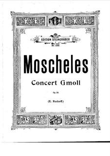 Klavierkonzert, Op.58: Für zwei Klaviere by Ignaz Moscheles