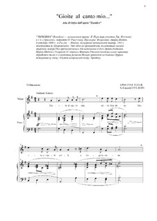 Euridice: Aria di Orfeo 'Gioite al canto mio' by Jacopo Peri