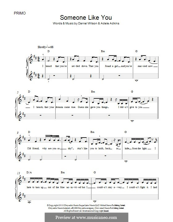 Someone Like You: Für Klavier by Adele, Daniel Wilson
