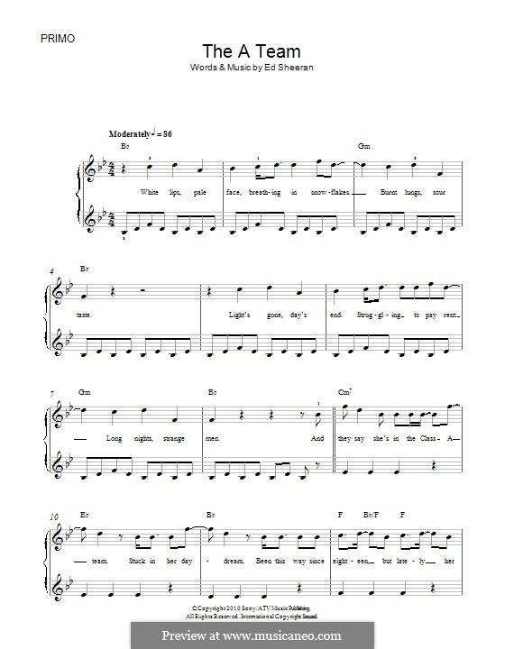 The a Team: Für Klavier by Ed Sheeran